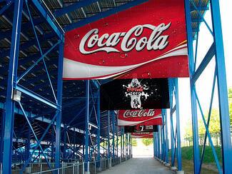 Stadium advertising signs