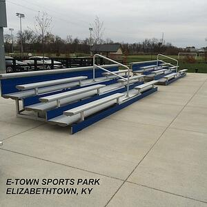portable school bleachers, high school bleachers, stadium seating