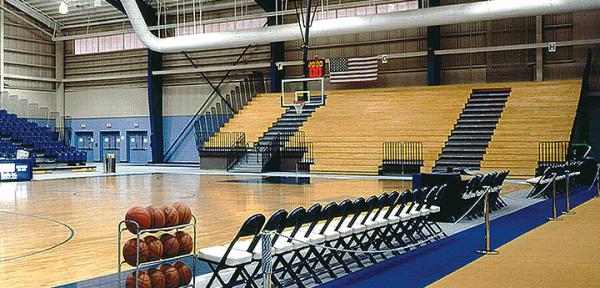 Wooden Basketball Bleachers From Toadvine Enterprises