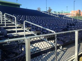 football bleachers toadvine enterprises