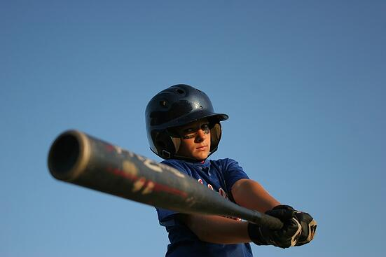 little league batter baseball