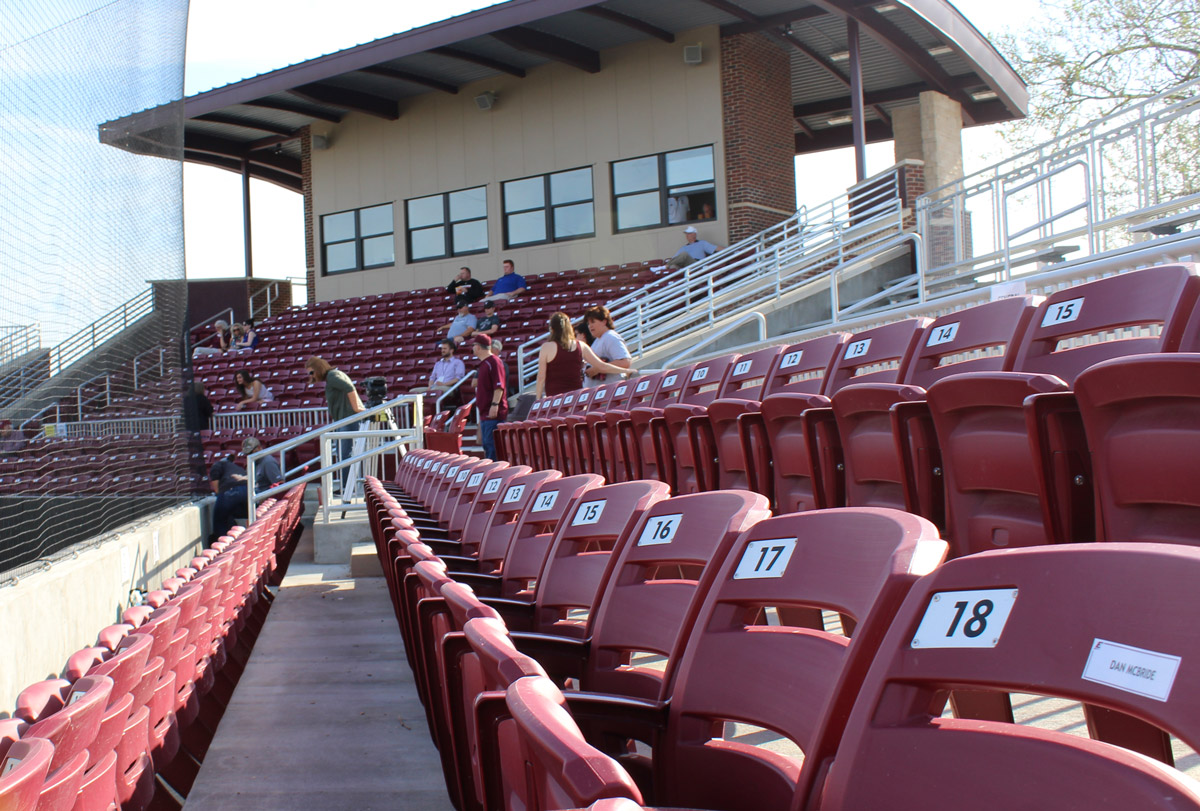 Eastern Kentucky baseball Earle Combs stadium chair back seating